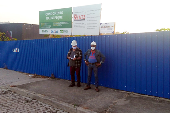 Sindicato continua de olho nas obras da cidade, para defender os trabalhadores