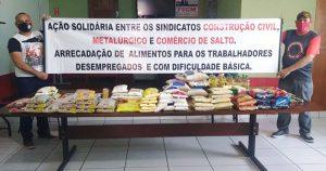 Você pode ajudar o trabalhador desempregado a levar comida para os seus