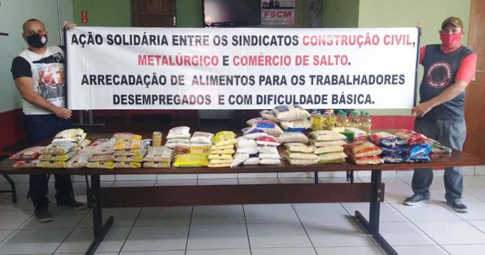 ação solidária para os trabalhadores desempregados